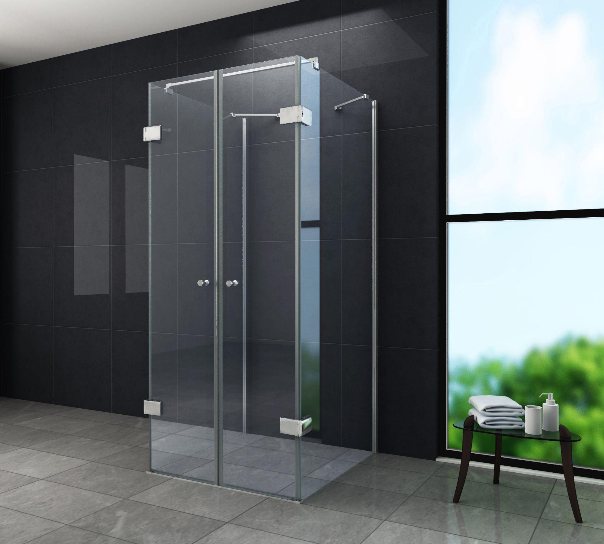 u duschkabine isola 90 x 75 x 195 ohne duschtasse alphabad. Black Bedroom Furniture Sets. Home Design Ideas