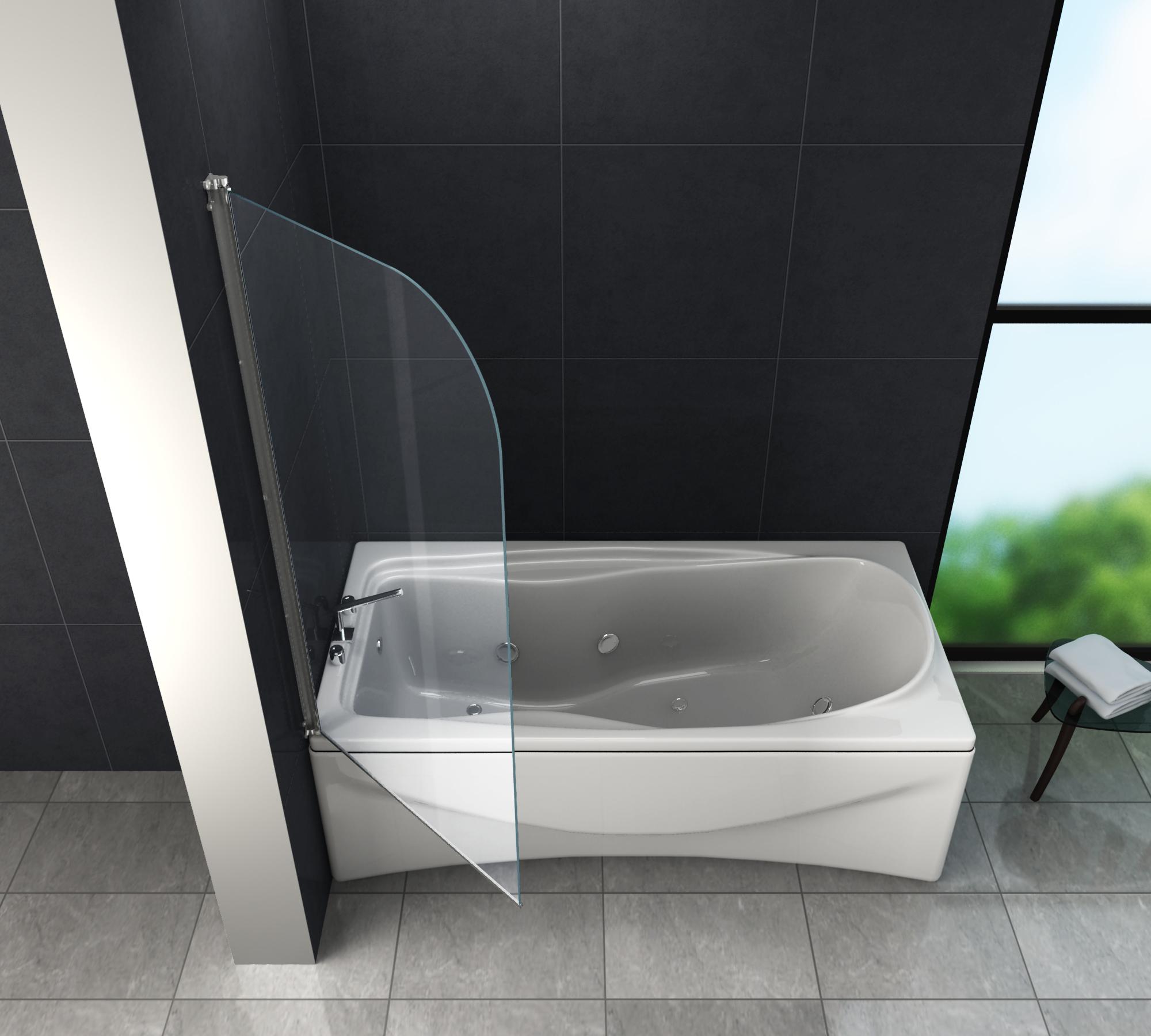 Duschtrennwand Rono 80 X 140 Badewanne